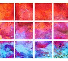 Water Fire Abstract Grid by Edward Fielding