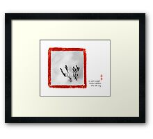 cold sunlight Framed Print