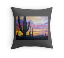 Sonoran Desert Sunset by Sally Vidalin Throw Pillow