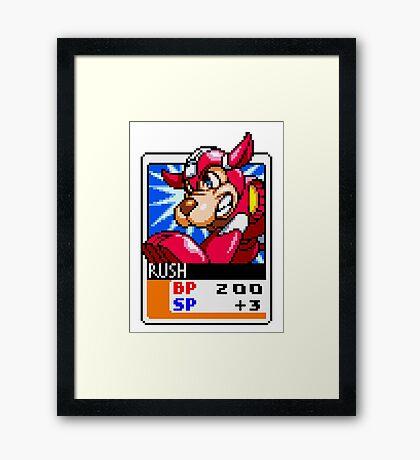 Rush - Mega Man Framed Print