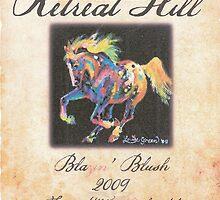 """Blazin' Blush"" Wine Label & ""Starburst Pony"" (front) by louisegreen"