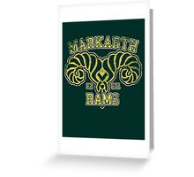 Skyrim - Football Jersey - Markarth Rams Greeting Card