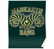 Skyrim - Football Jersey - Markarth Rams Poster