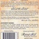 """Blazin' Blush"" wine label (back) by louisegreen"