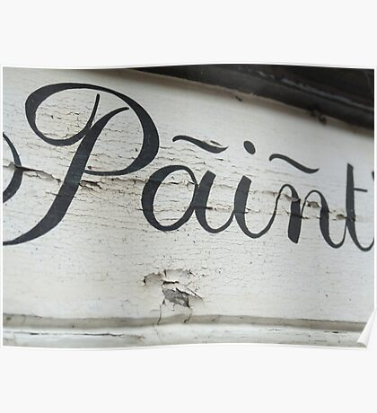 Ironic Paint sign Poster