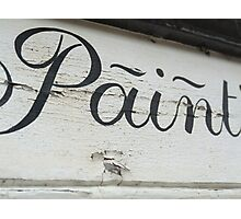 Ironic Paint sign Photographic Print