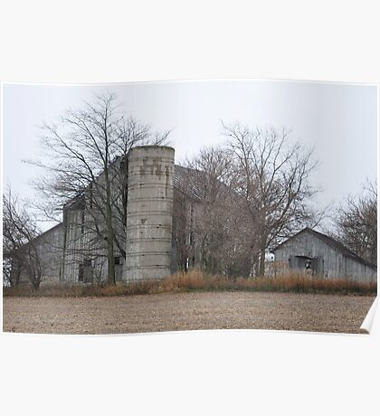 Old Barns in Selma Poster