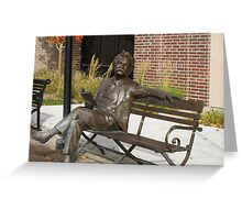 Mark Twain Statue #1 Greeting Card