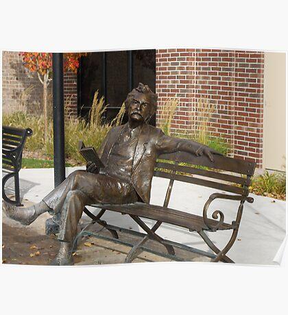 Mark Twain Statue #1 Poster