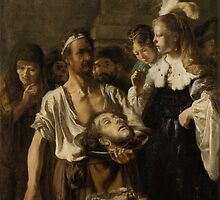 Painting - Beheading of John the Baptist, circle of Rembrandt Harmensz. van Rijn, c. 1640 - c. 1645  by wetdryvac
