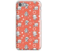 Pattern with robots. iPhone Case/Skin