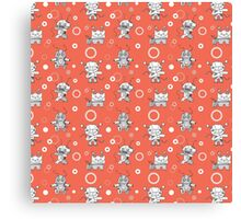 Pattern with robots. Canvas Print