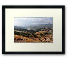 a stunning Jordan landscape Framed Print