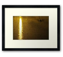 On Golden Pond, You Must Row Towards The Light Framed Print