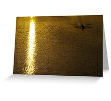 On Golden Pond, You Must Row Towards The Light Greeting Card