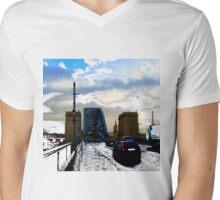 Tyne Bridge Traffic Mens V-Neck T-Shirt