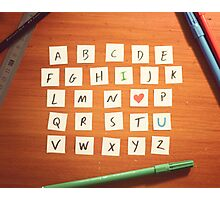 Alphabet ii Photographic Print