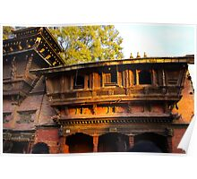 Mediaeval Architecture Kathmandu Poster