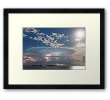 Lake Side Storm Watching Framed Print
