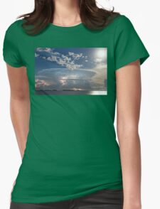 Lake Side Storm Watching Womens Fitted T-Shirt