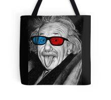 Albert Einstein 3d Glasses Piercing Tote Bag