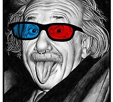Albert Einstein 3d Glasses Piercing by metaminas