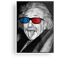 Albert Einstein 3d Glasses Piercing Metal Print