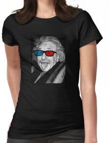 Albert Einstein 3d Glasses Piercing Womens Fitted T-Shirt