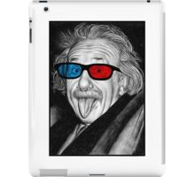 Albert Einstein 3d Glasses Piercing iPad Case/Skin