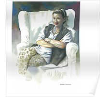 Portrait of Sue S. in white chair Poster
