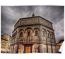 The Baptistery in Florence Cathedral Poster