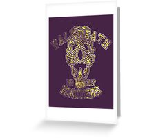 Skyrim - Football Jersey - Falkreath Hunters Greeting Card
