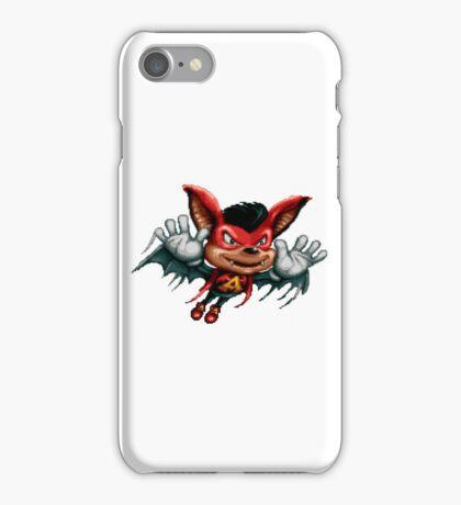 Aero the Acro-Bat - SNES Sprite iPhone Case/Skin