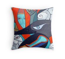 reaching for raven high tides Throw Pillow