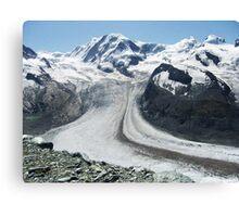 Gornergrat Glacier, Zermatt Switzerland Canvas Print