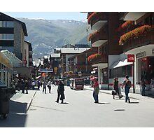 Tourism in Zermatt Switzerland Photographic Print