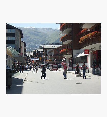 Tourism in Zermatt Switzerland Photographic Print