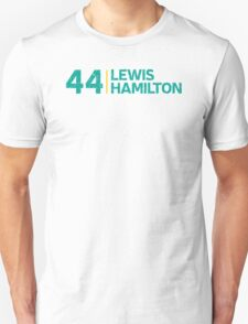 F1 Driver: Lewis Hamilton #44 Grungy  T-Shirt