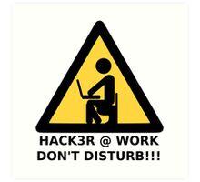 Hacker at work Art Print