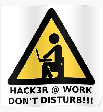 Hacker at work Poster