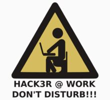 Hacker at work T-Shirt
