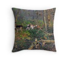 Hidden in the green Throw Pillow