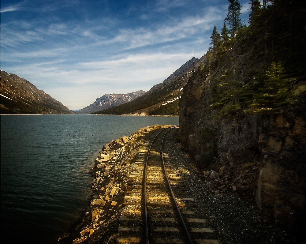 WP&Y RR along Lake Bennett in BC by Yukondick