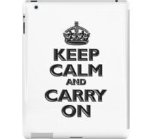 Keep Calm & Carry On, Be British! (Chisel), UK, WW2, WWII, Propaganda iPad Case/Skin