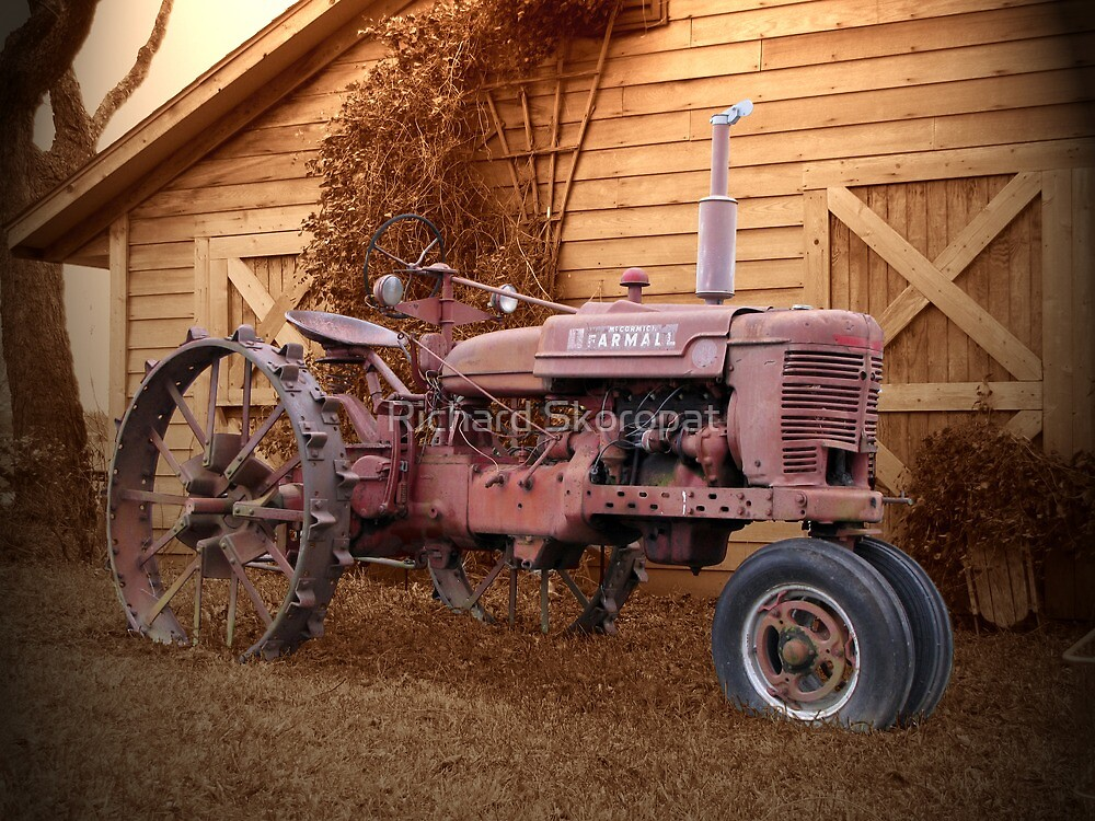 Tractor and Barn by Richard Skoropat
