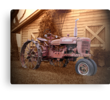 Tractor and Barn Metal Print