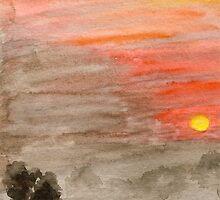 Sunset by Caroline  Lembke