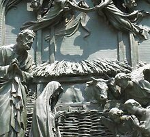 nativity-detail on the Duomo door, Milan by Casciolina