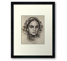 Female portrait 2 Framed Print