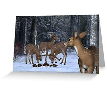 A Family of Deer Greeting Card
